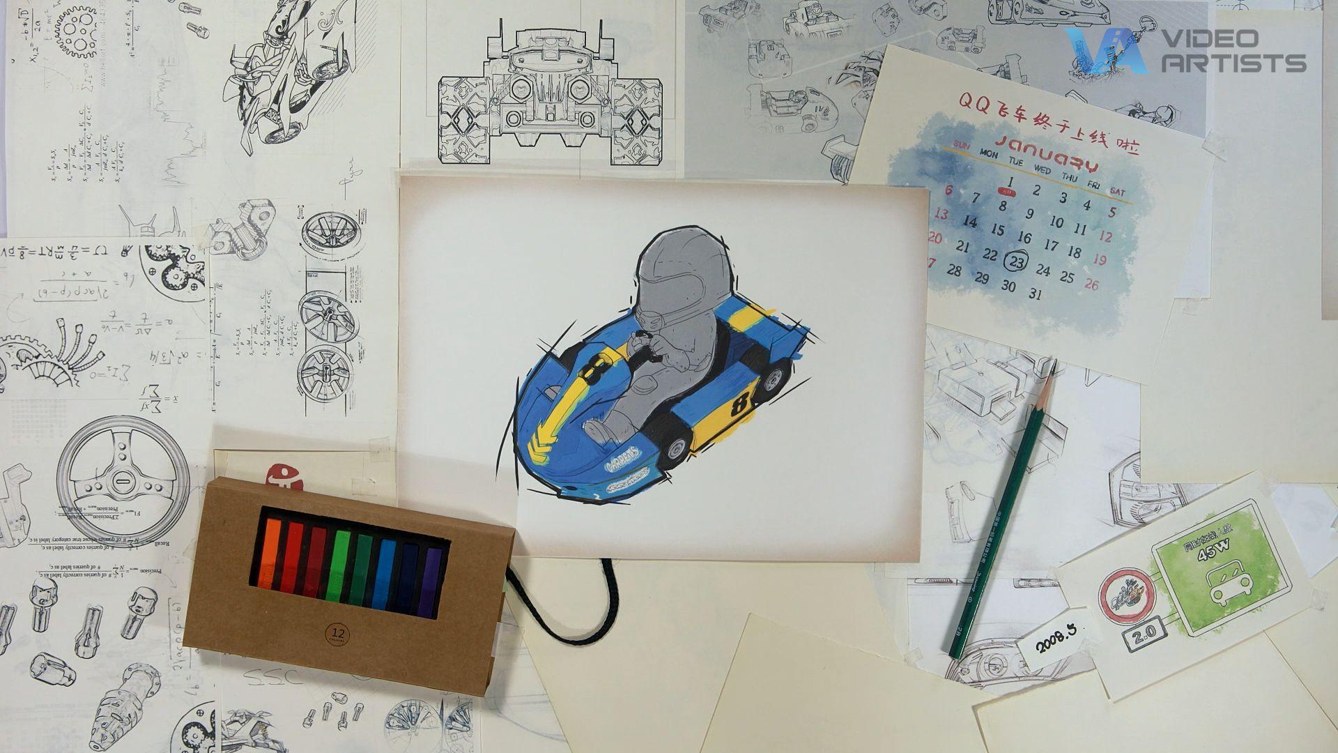《QQ飞车》十周年折纸动画—宣传片